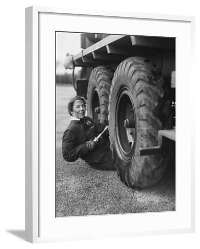 Wheel Greaser--Framed Art Print