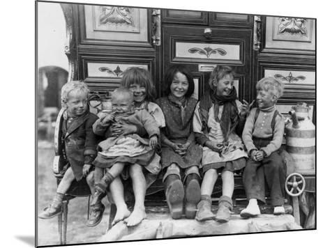 Gypsy Children--Mounted Photographic Print