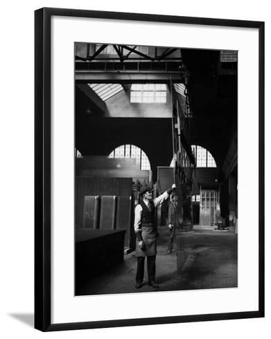 Glass Factory--Framed Art Print
