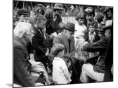 Clapham Chess--Mounted Photographic Print
