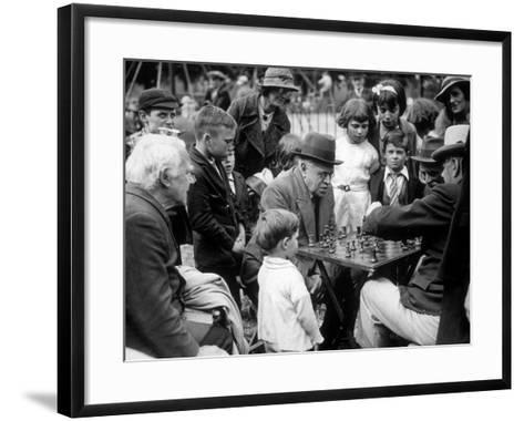 Clapham Chess--Framed Art Print