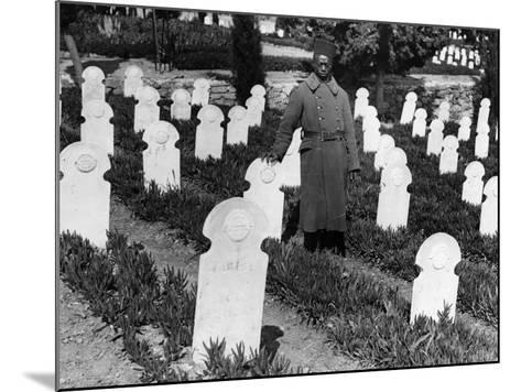 War Cemetery--Mounted Photographic Print