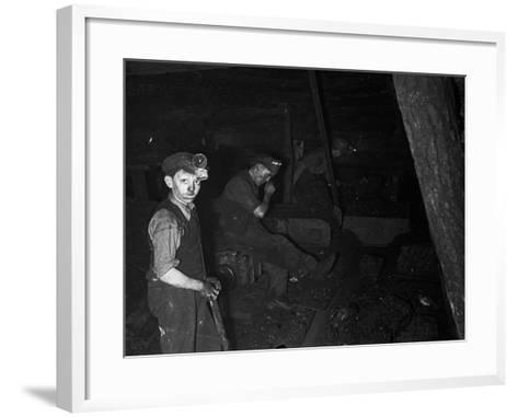 Welsh Miners--Framed Art Print