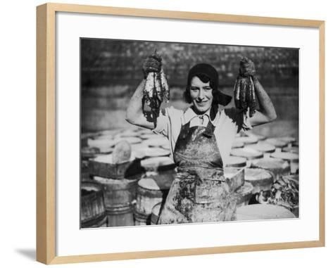 Fish Fingers--Framed Art Print