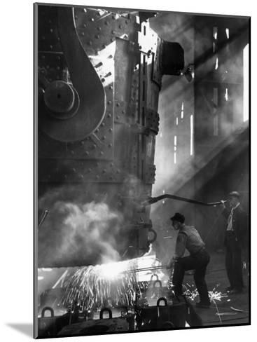Steelworkers--Mounted Photographic Print