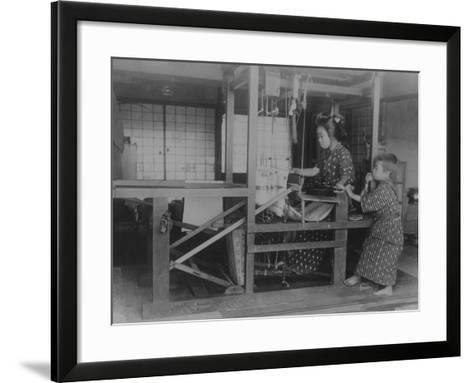 Silk Weaver--Framed Art Print