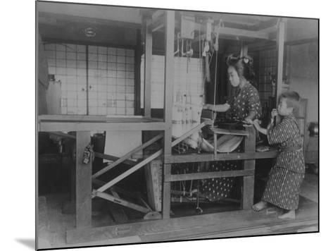 Silk Weaver--Mounted Photographic Print