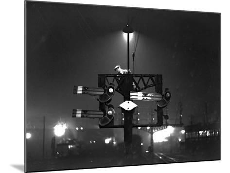Signal Check--Mounted Photographic Print