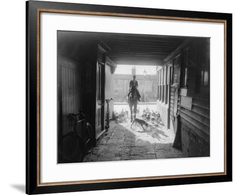 Beagle Hunt--Framed Art Print