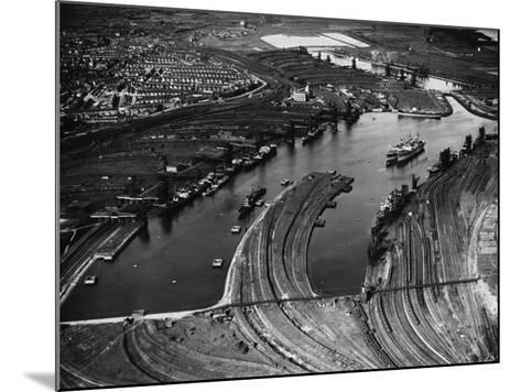 Barry Docks--Mounted Photographic Print