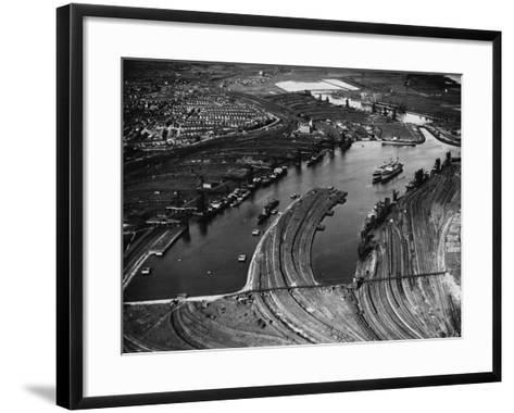 Barry Docks--Framed Art Print