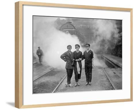 Lady Drivers--Framed Art Print