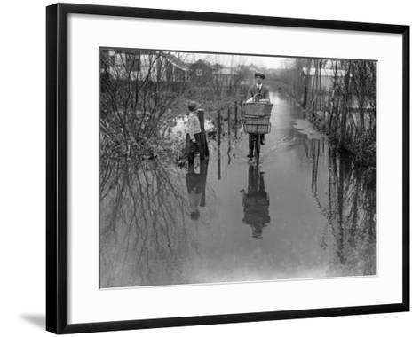 Delivery Man--Framed Art Print
