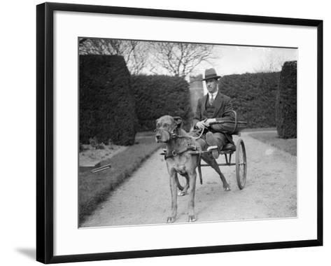 Dog Carriage--Framed Art Print
