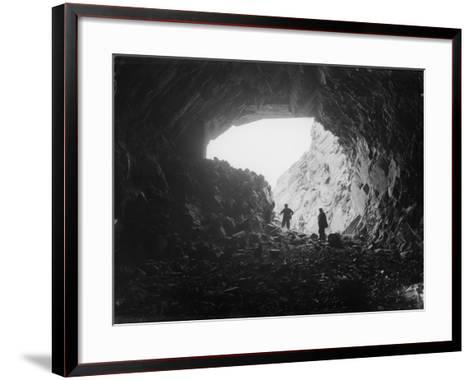 Welsh Roadworks--Framed Art Print