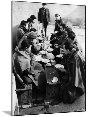 Hungry Soldiers--Mounted Photographic Print