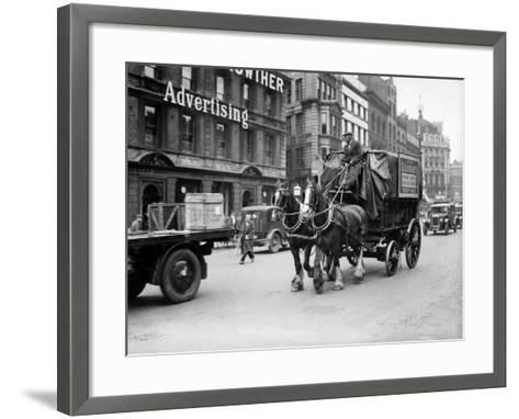Delivery Cart--Framed Art Print