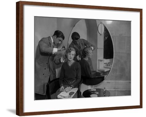 Model Haircut--Framed Art Print