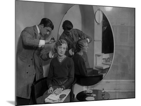 Model Haircut--Mounted Photographic Print