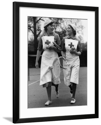 Nurses' Tennis--Framed Art Print