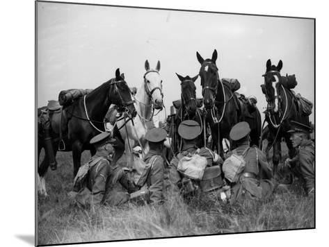 Men and Horses--Mounted Photographic Print