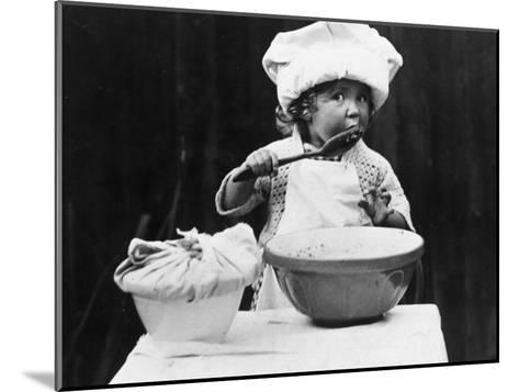 Young Chef--Mounted Photographic Print