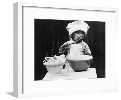 Young Chef--Framed Art Print