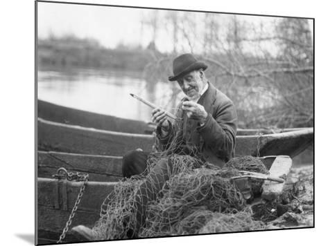 Fisherman--Mounted Photographic Print