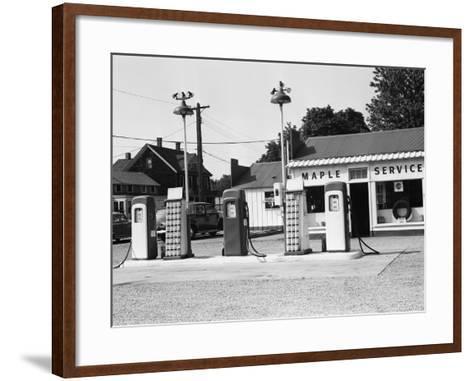 Urban Gas Station-George Marks-Framed Art Print