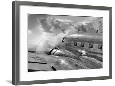 Vintage Airplane in Flight-Nick Vedros & Assoc.-Framed Art Print