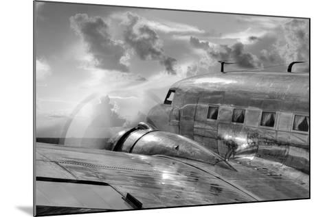 Vintage Airplane in Flight-Nick Vedros & Assoc.-Mounted Photographic Print