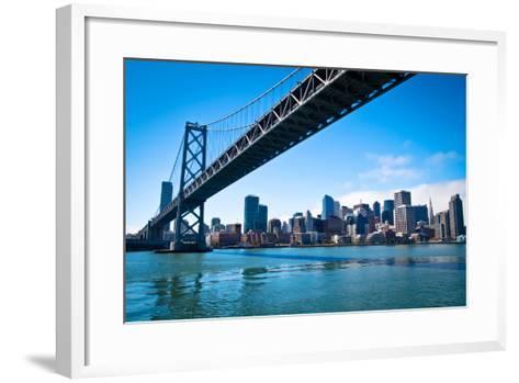 Bay Bridge and Embarcadero-Lily Chou-Framed Art Print