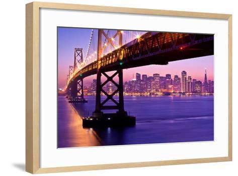 Bay Bridge Twilight-Tom Grubbe-Framed Art Print