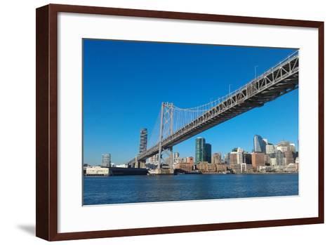 Sailing under the Bay Bridge-Malinda B Shishido-Framed Art Print