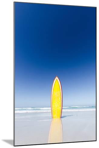 Retro Yellow Surf Board and Blue Sky. Australia.-John White Photos-Mounted Photographic Print