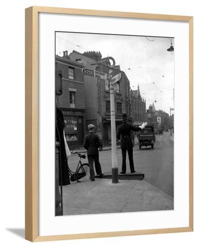Traffic Cop--Framed Art Print