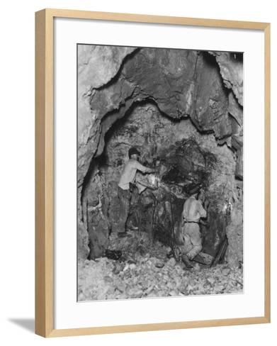 Gold Mining--Framed Art Print