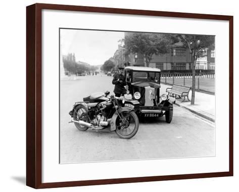 Speed Cop--Framed Art Print