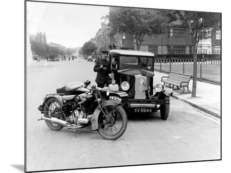 Speed Cop--Mounted Photographic Print