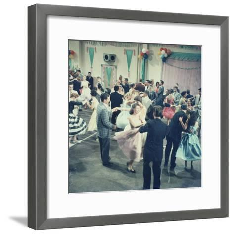 Teenage Couples (15-18) Dancing at Party--Framed Art Print