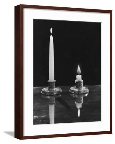Burning the Candle--Framed Art Print