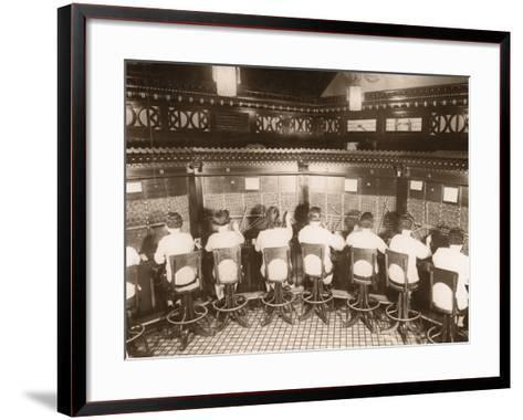 Female Switchboard Operators--Framed Art Print