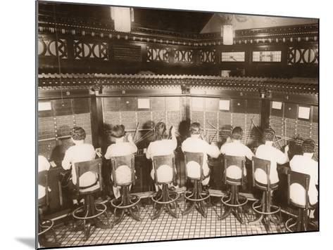 Female Switchboard Operators--Mounted Photographic Print