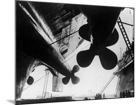 Ships's Propellers--Mounted Photographic Print