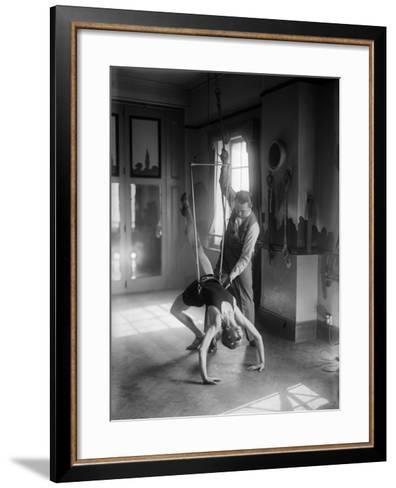 Gymnast Training--Framed Art Print