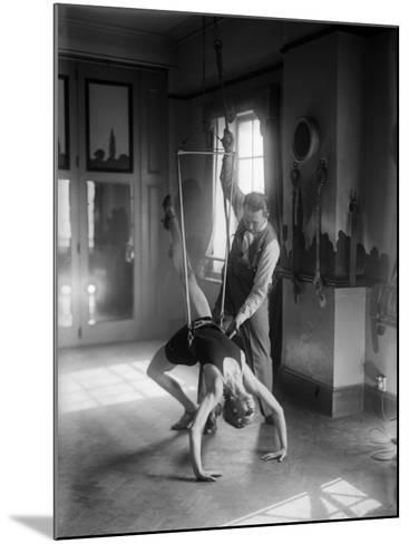 Gymnast Training--Mounted Photographic Print