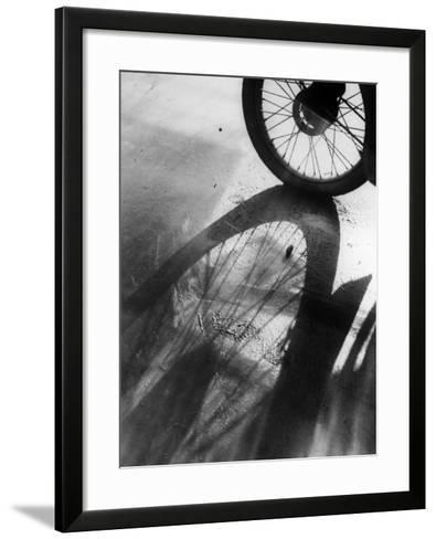 Shadow Wheel--Framed Art Print