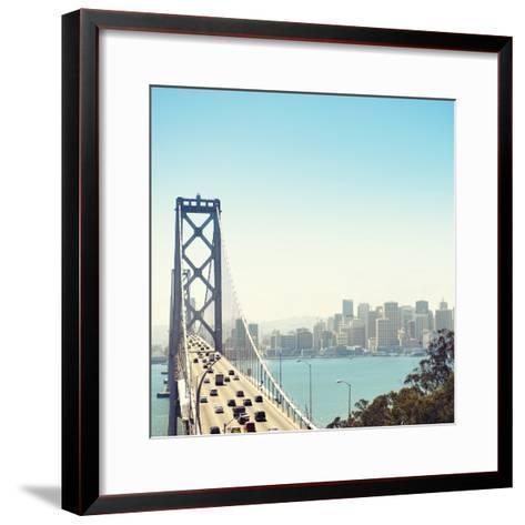 San Francisco Bay Bridge and Rush Hour Traffic-franckreporter-Framed Art Print