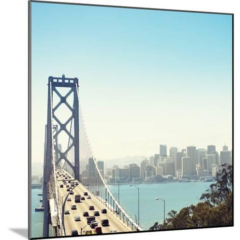 San Francisco Bay Bridge and Rush Hour Traffic-franckreporter-Mounted Photographic Print