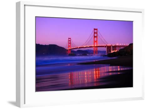 Golden Gate Bridge Dusk-Ian Philip Miller-Framed Art Print